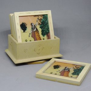 Lady in garden coasters