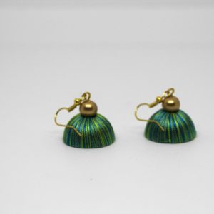 silk thread jewellery_green